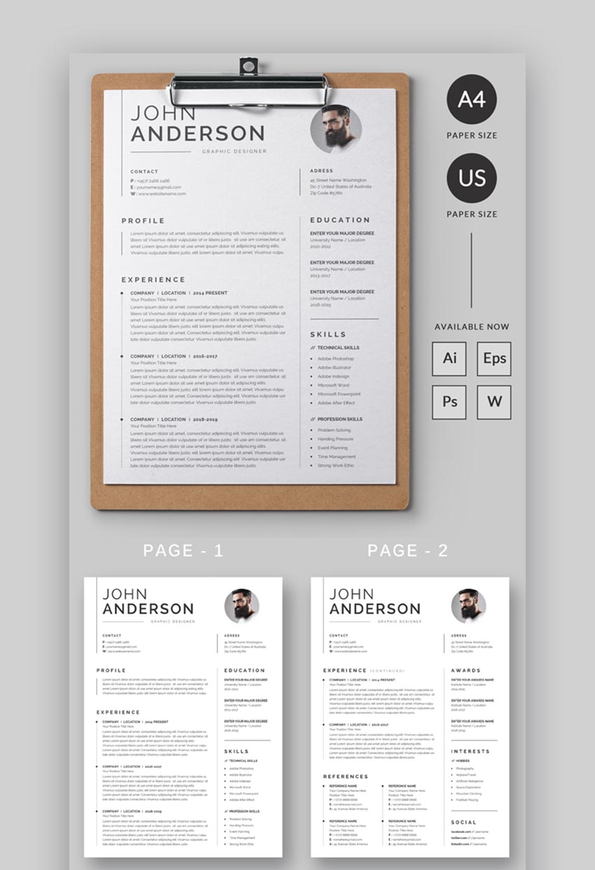 Professional Resume with Clean Design