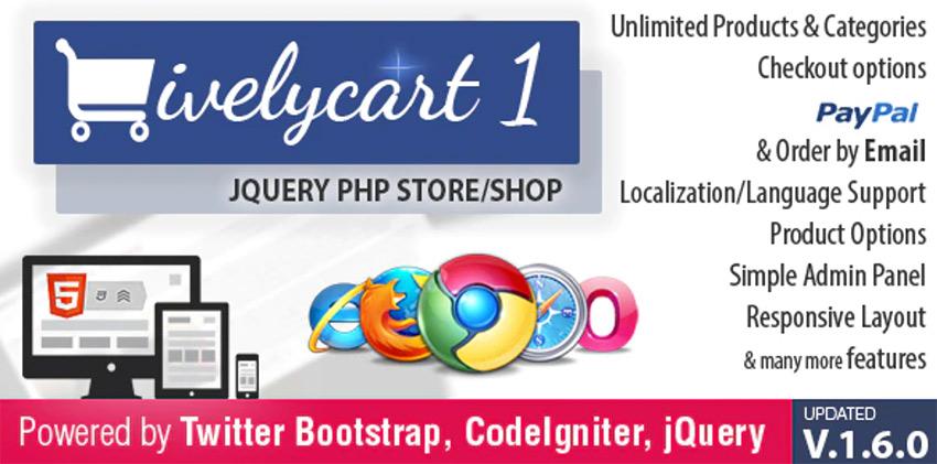 LivelyCart - PHP MySQL JQuery Shopping Cart