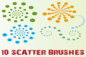 Scatter Download Free Brushes Illustrator