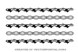 Vector Chain Illustrator Brushes Free