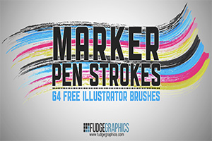 Marker Pen Illustrator CC Brushes Free