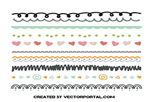 Scrapbook Style Illustrator Brushes Free