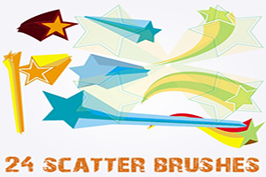 Star Scatter Free Adobe Illustrator Brushes