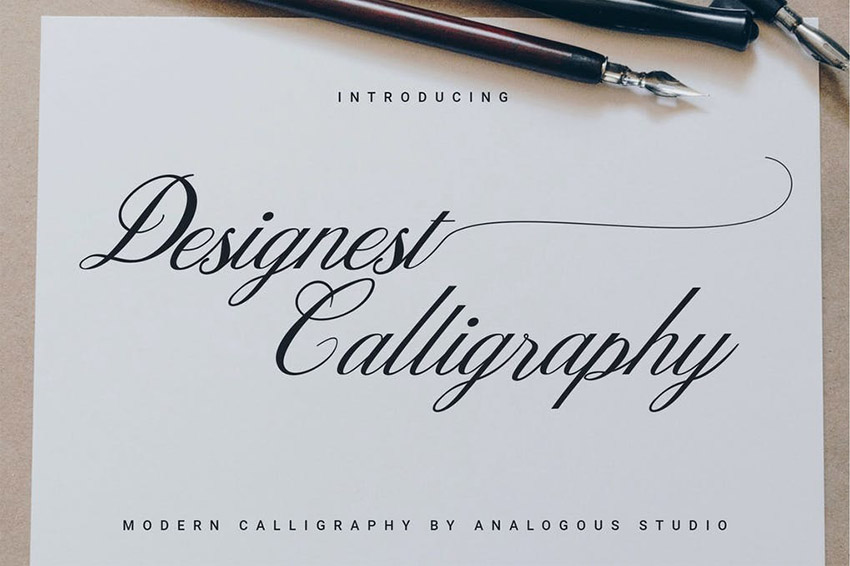 Designest Pointed Pen Calligraphy Font Download