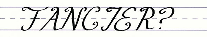 Calligraphy Writing Tutorial make your own font-fancier uppercase letters