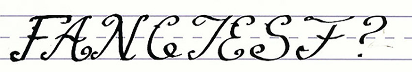 Calligraphy Writing Tutorial make your own font-fanciest uppercase letters