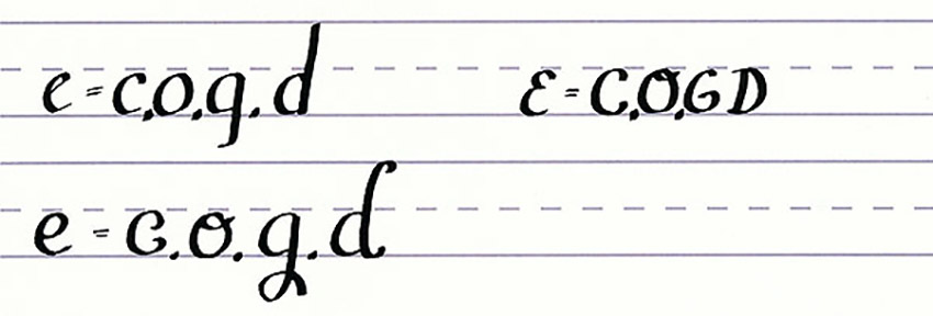 How to Write Calligraphy Letters Tutorial make your own font-lowercase letters like e
