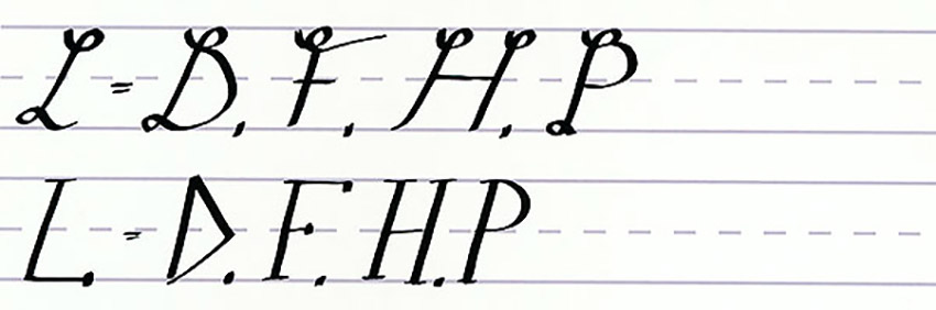 Calligraphy Writing Tutorial make your own font-uppercase letters like l