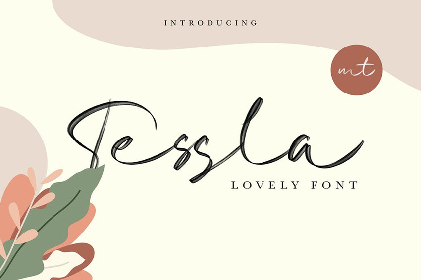 Tessla Calligraphy Script Font Alphabet Download