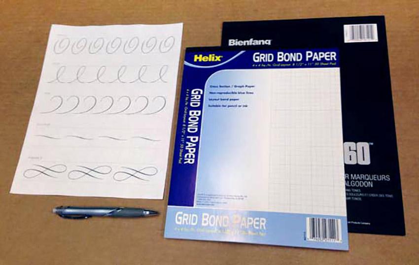 Basic Hand Lettering Techniques Tutorial Script Lettering Tools