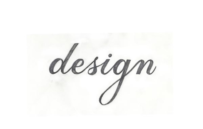 Script Lettering Drawing Tutorial complete