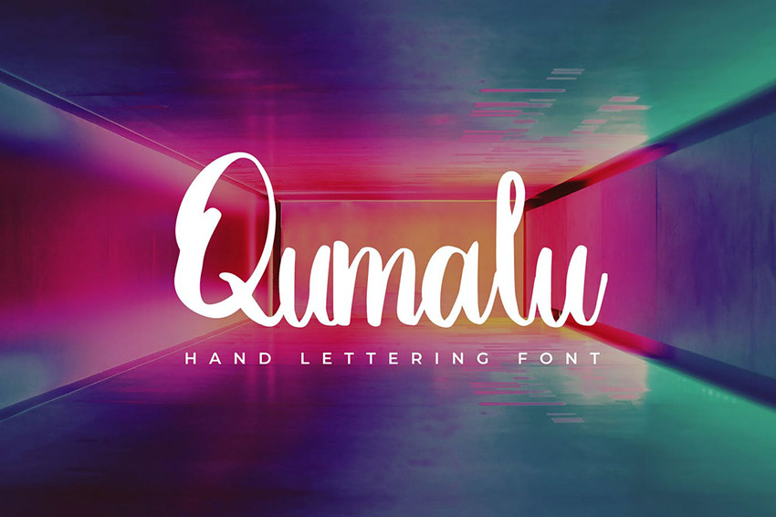 Qumalu Calligraphy Hand Lettering Fonts Download