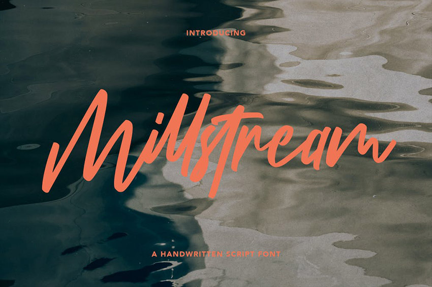 Millstream Hand Lettered Brush Script Font Download