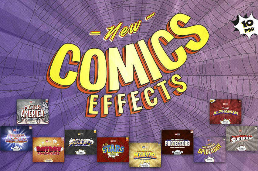 Best Comics Photoshop Layer Styles Download