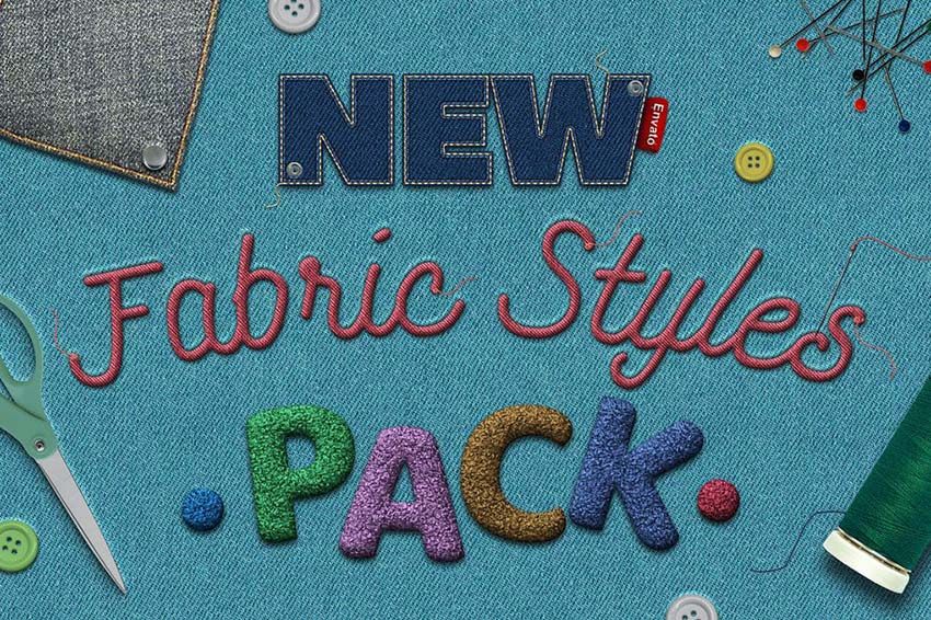 Fabric Text Effects Photoshop Layer Styles Download