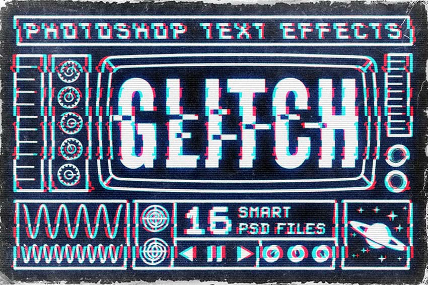 Glitch Text Effect Photoshop Layer Styles Download
