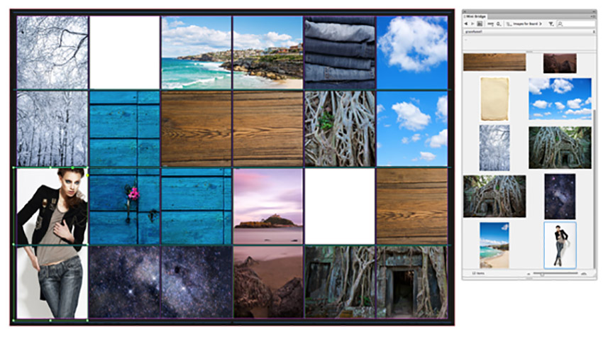 How to Make a Photo Collage on Mac and PC Tutorial mini bridge and board