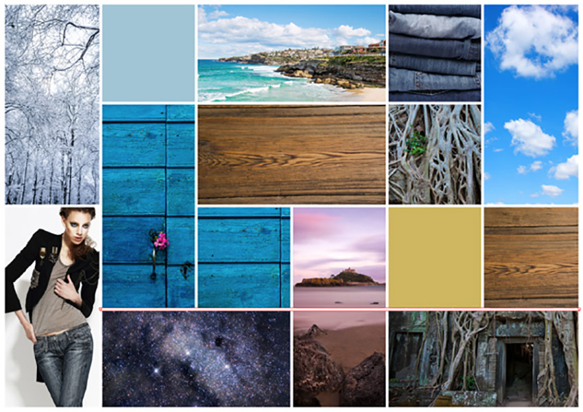 Colour Palette Mood Board InDesign Tutorial board preview