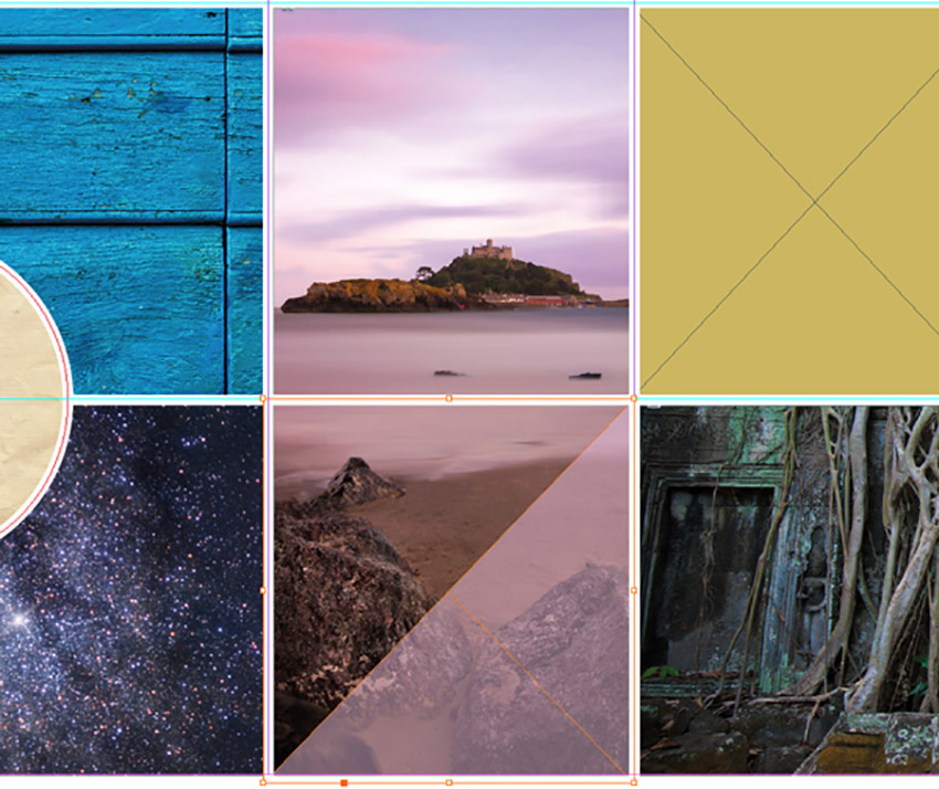 How to Make a Mood Board on InDesign Tutorial triangle overlay