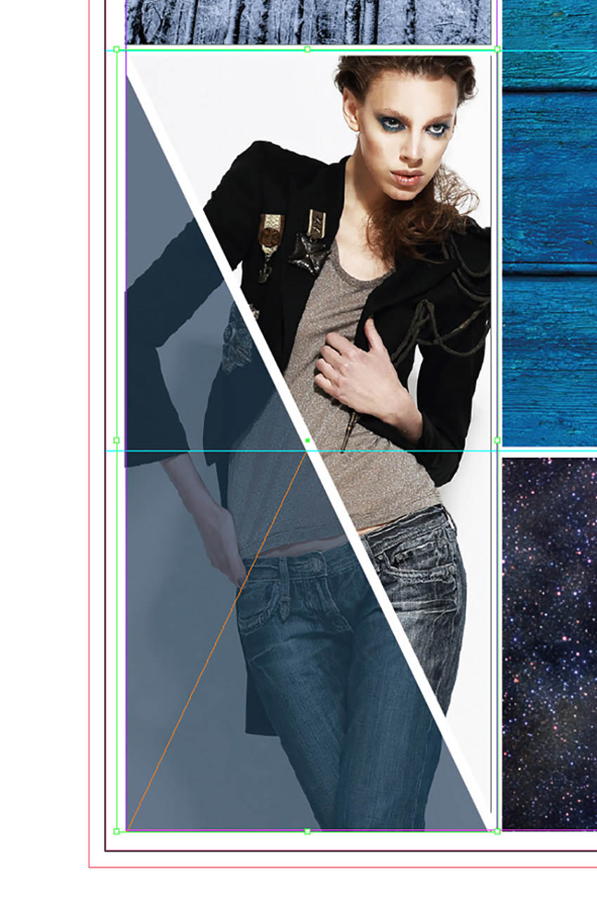How to Make a Mood Board on InDesign Tutorial triangle border