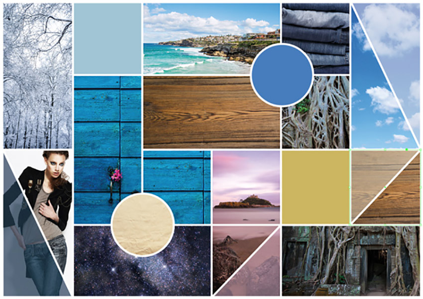 How to Make a Mood Board on InDesign Tutorial board preview