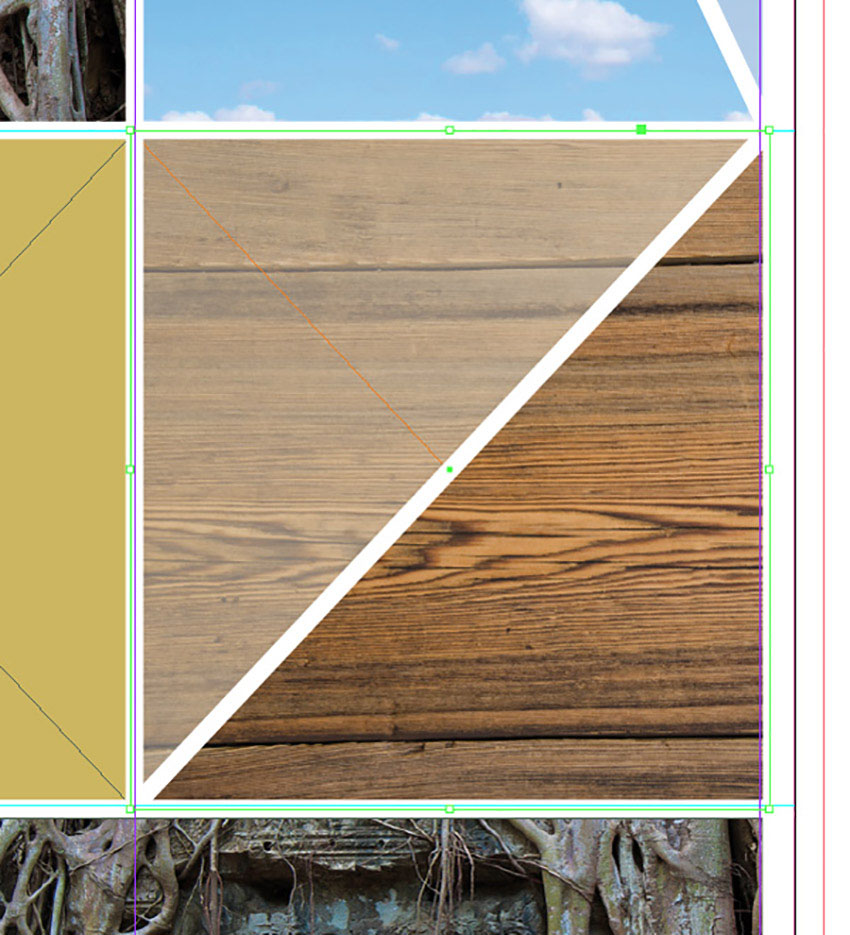 How to Make a Mood Board on InDesign Tutorial white line