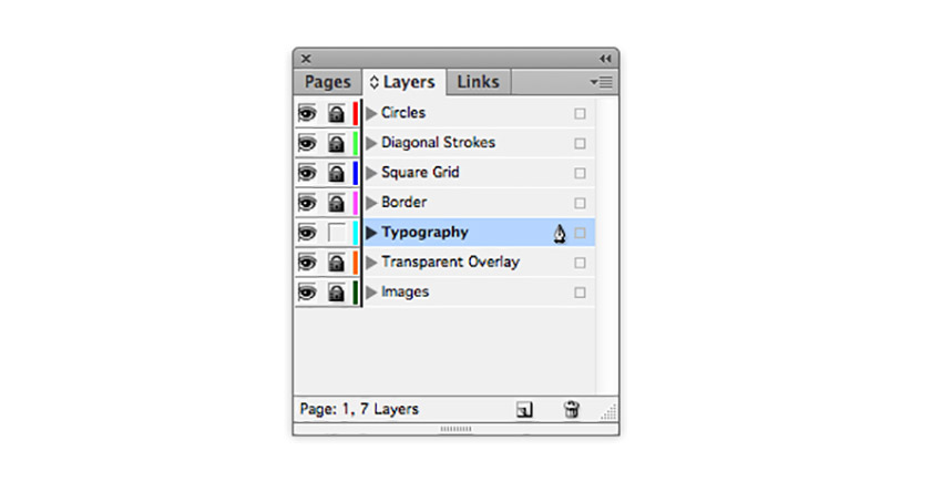 How to Make a Mood Board on InDesign Tutorial layers panel