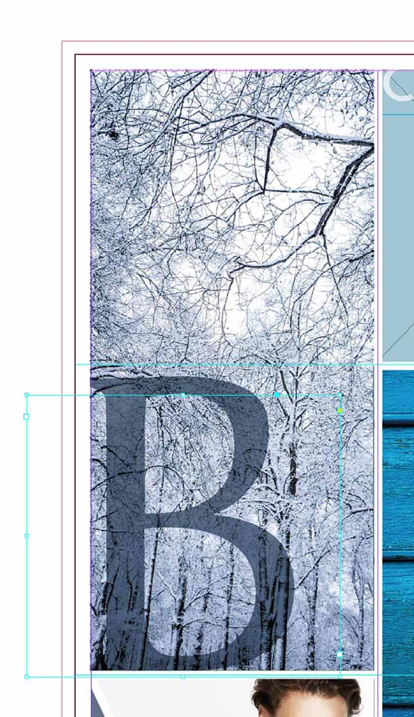 How to Make a Photo Collage on Mac and PC Tutorial transparency applied to text