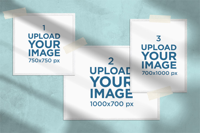 Photo Grid Collage Maker PNG Template Online