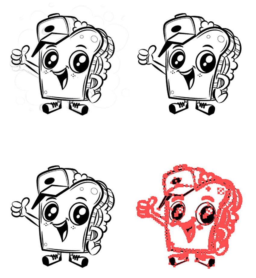 Logo and Mascot Design Tutorial adobe illustrator mascot duplicate four versions artboard