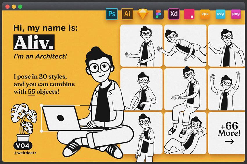 Download Mascot Logo Pack Character Set