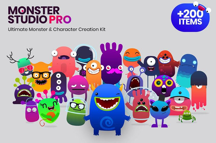 Monster Studio Pro Digital Mascot Design