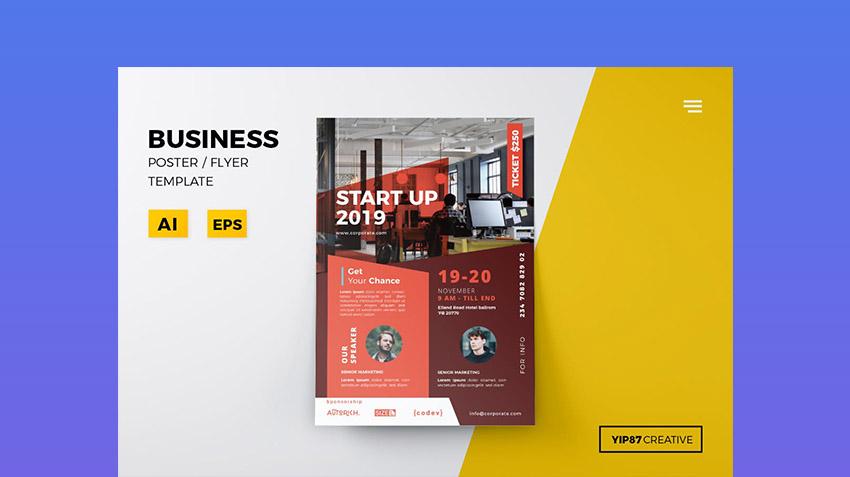 Business Flyer Illustrator Template