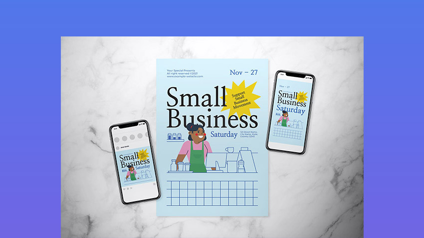Small Business Saturday Flyer Set
