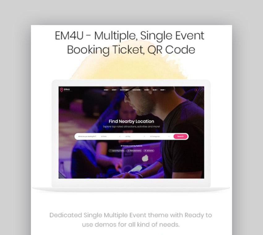 EM4U Event WordPress Template