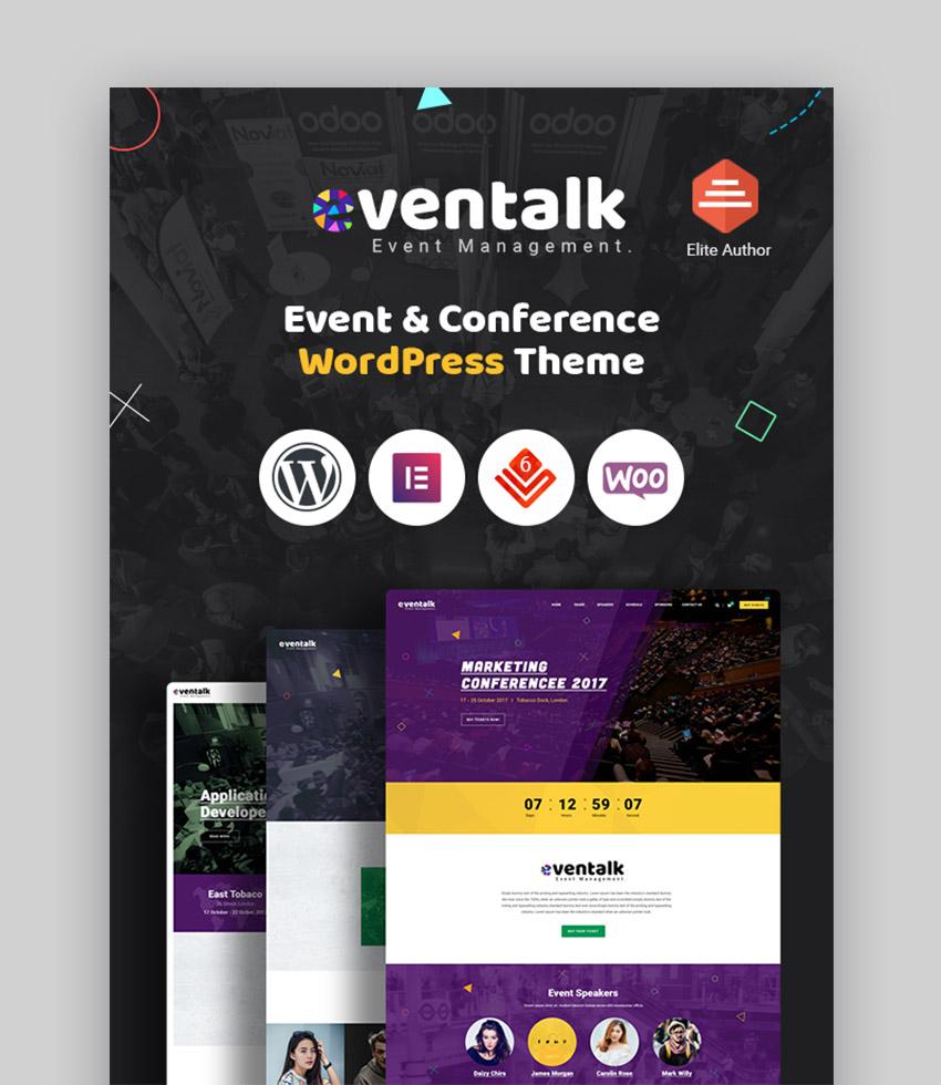 EvnTalk Event Website Template
