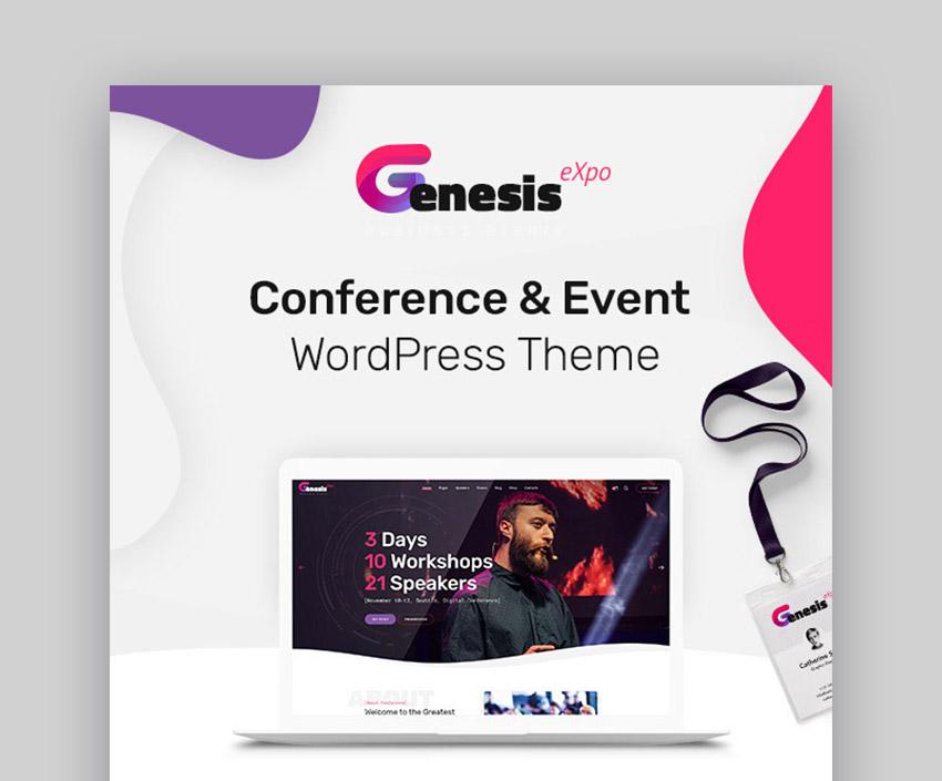 GenesisExpo Event WordPress Template