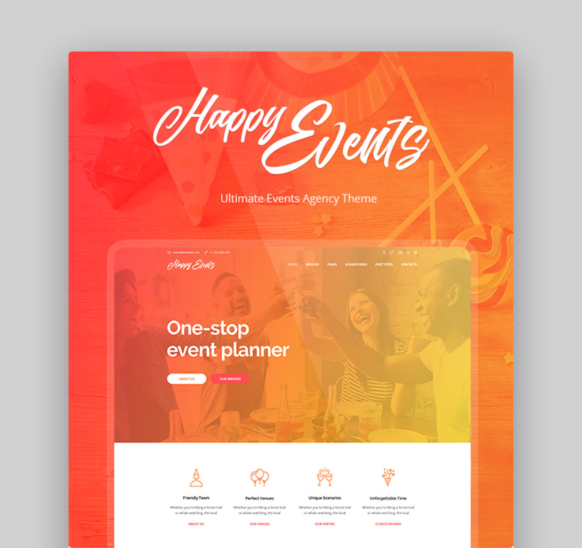 Happy Events Event and Conference Theme