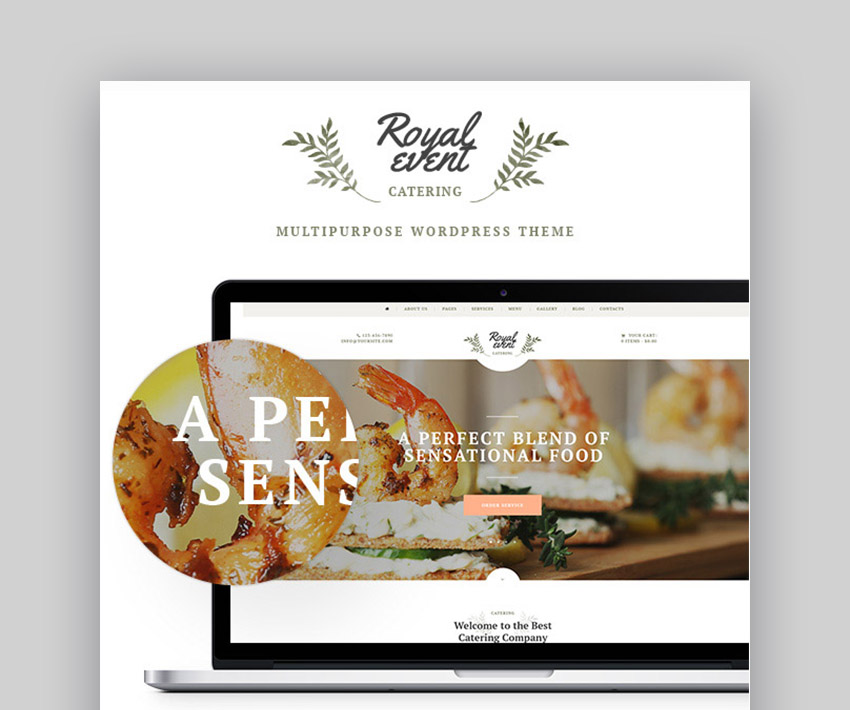 Royal Event Website Template