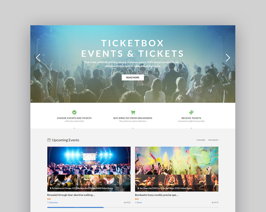 TicketBox Event Website Template
