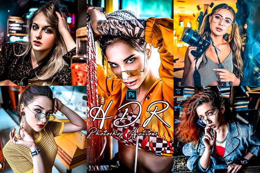 PRO HDR Photoshop Actions Bundle Download