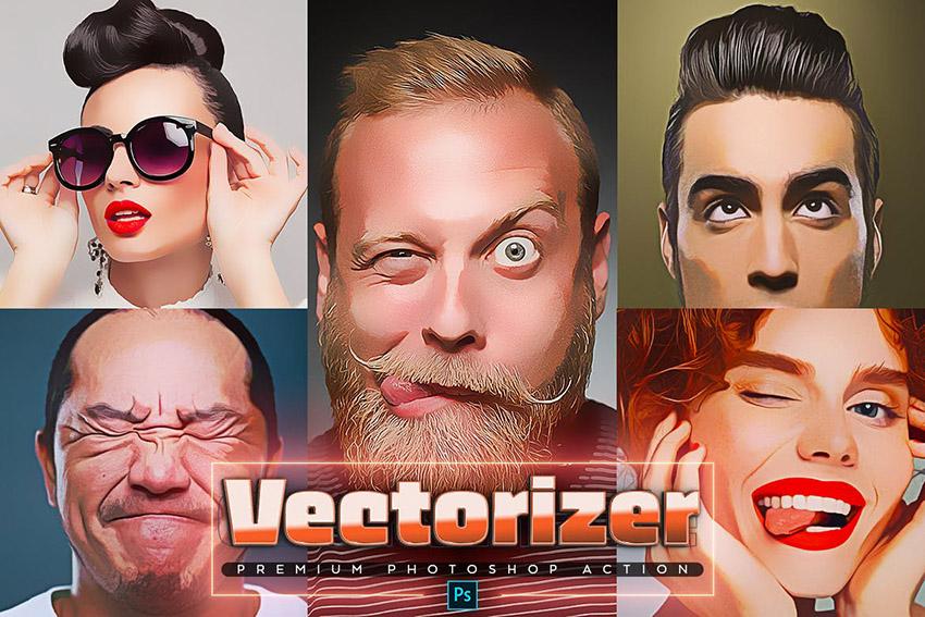 Vectorizer Unique Photoshop Action Download