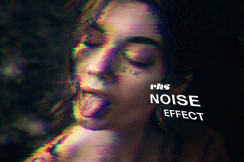 VHS Noise Photo Effect Photoshop Action