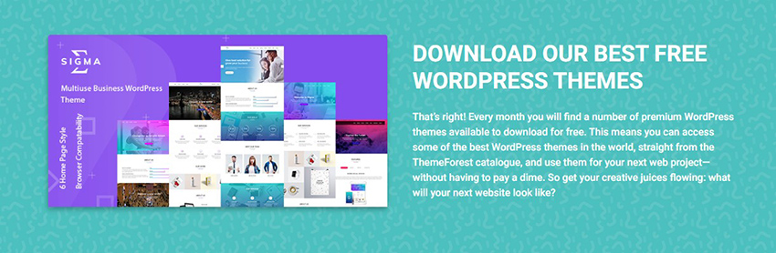 Free WordPress Themes From ThemeForest
