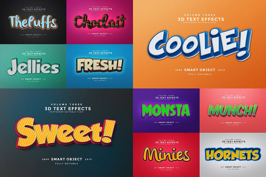 3D Text Effects Photoshop