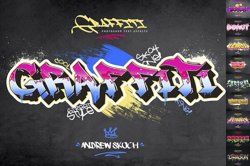 Graffiti Text Effects - 10 PSD - vol 2
