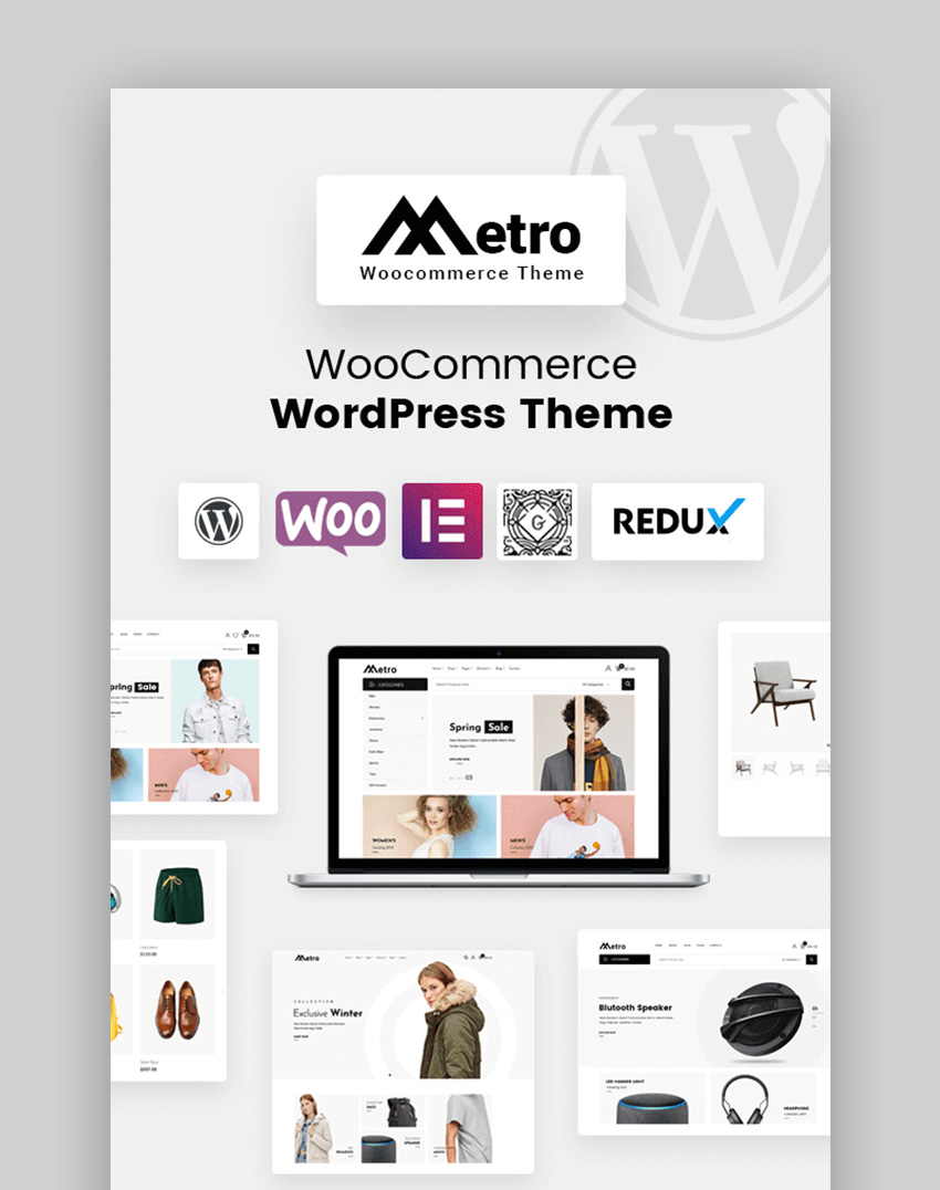 Metro Clean and Modern Inspiration WordPress Theme Template