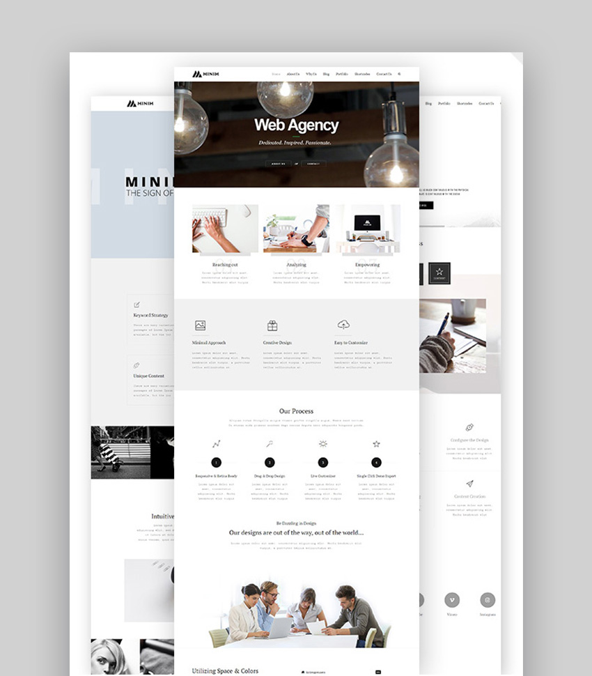 Minim Inspiration WordPress Theme