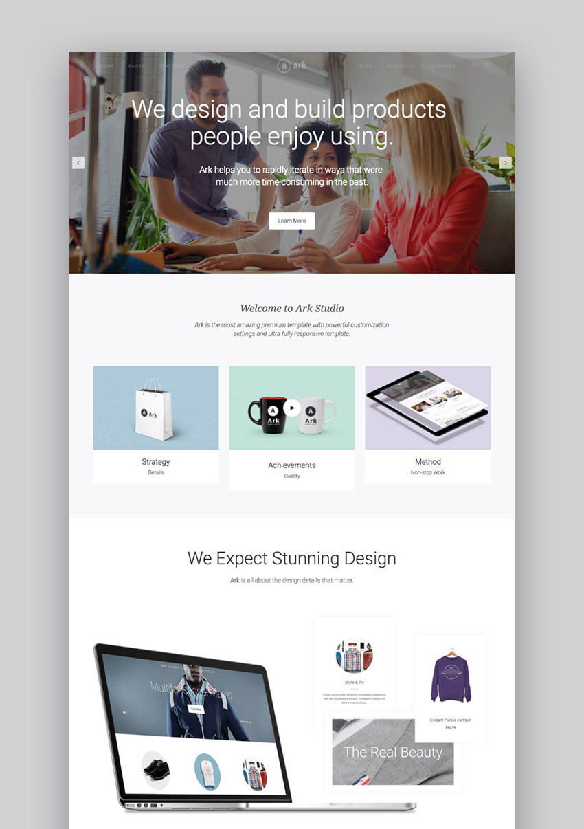 The Ark Modern and Elegant Clean WordPress Theme
