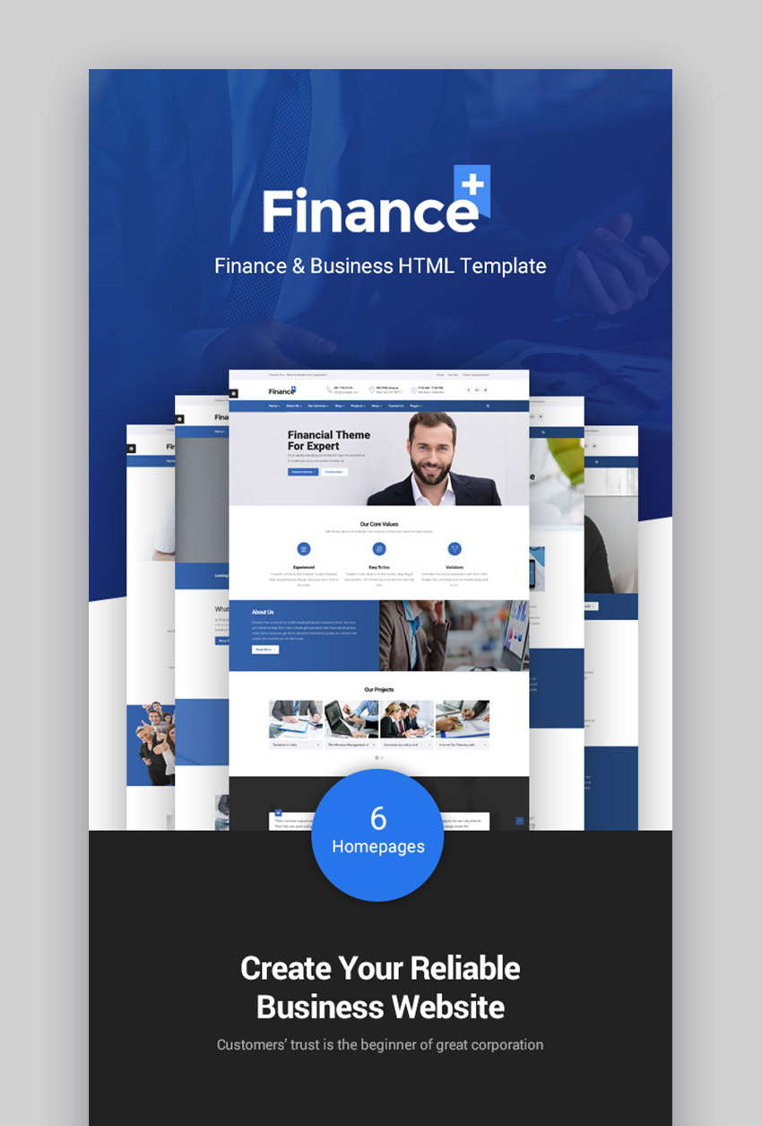 FinancePlus Consulting WordPress Theme